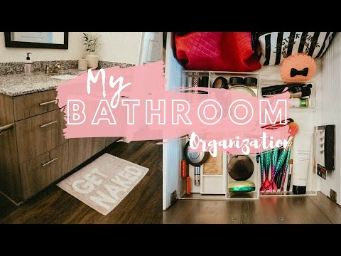 ORGANIZE WITH ME // Bathroom Makeover + Tips