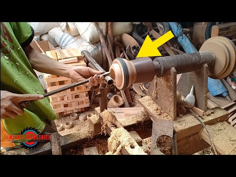 WOODWORKING TRICK YOU'VE NEVER SEEN BEFORE // Lathe project