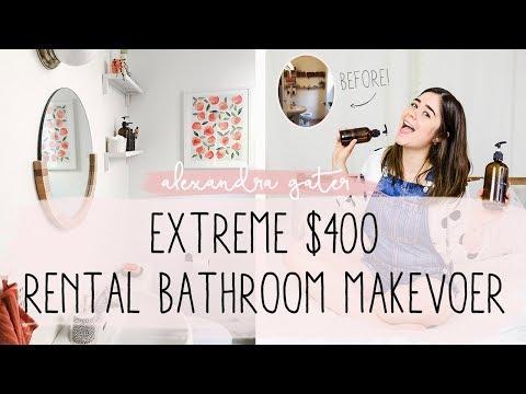 NO STORAGE RENTAL BATHROOM MAKEOVER FOR $400   MY RENTAL RENO S1 E5
