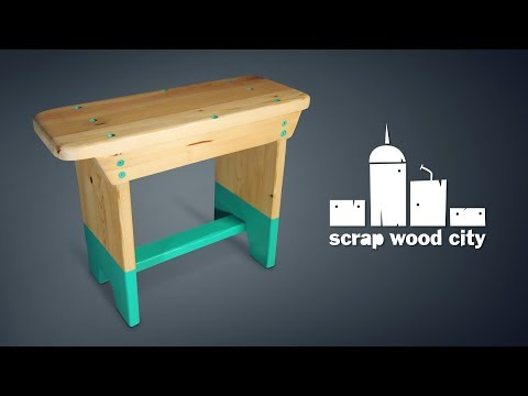 How to make a super simple wooden stool – DIY