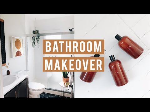 BATHROOM MAKEOVER: HOW TO DECORATE A RENTAL BATHROOM