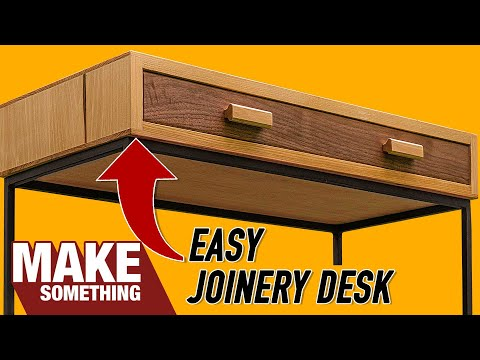 How to Make a Writing Desk   Easy Woodworking Project