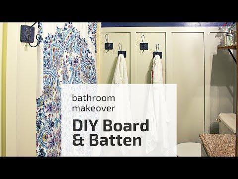 DIY Board and Batten – Easy Bathroom Makeover