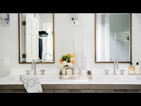 BYE BYE 80's!  Hello Modern Cozy! A Bathroom Makeover you Won't BELIEVE!