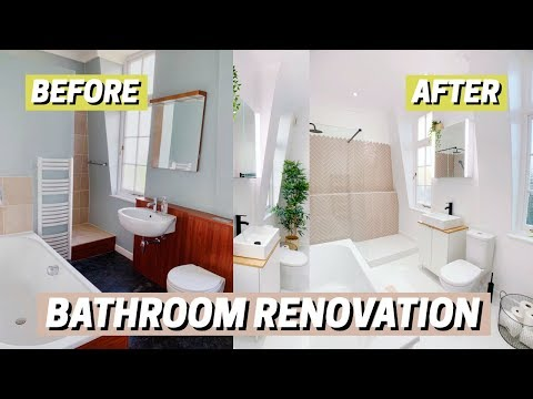 BATHROOM RENOVATION! Before & After 🛁