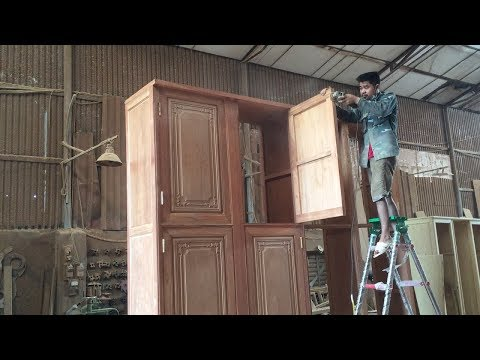 GIANT Woodworking Project With Woodworking Tools & Skillful WoodWorkers At High Level