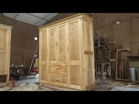 Woodworking Project Furniture Ideas Easy – This Is How Carpenter Build And Make A Three Wing Cabinet