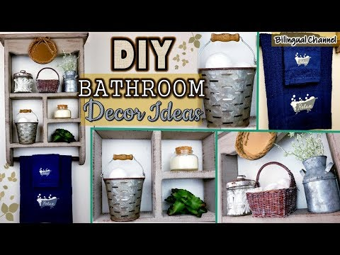 DIY Bathroom Makeover   Farmhouse Bathroom Decor Ideas   Deraciones Rusticas de Baño