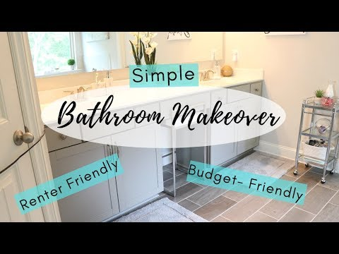 Easy Bathroom Makeover | Budget & Renter Friendly Bathroom Decorating Ideas