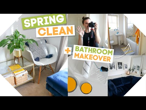 Spring Cleaning + Bathroom Makeover