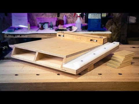 How to Make a RAMPED SHOOTING BOARD for Woodworking