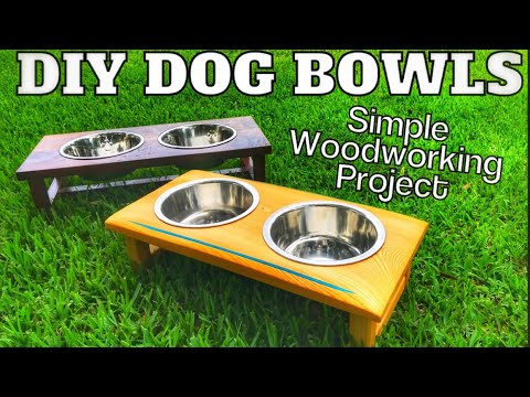 How To Make A Wooden Dog Food Feeder | Easy Woodworking Project