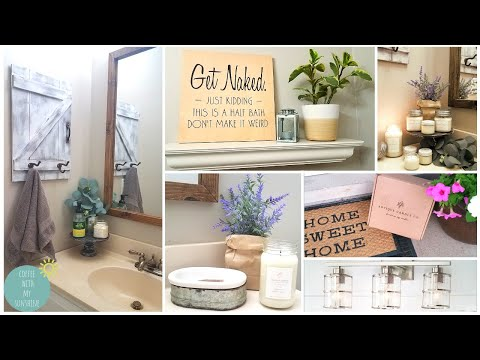 BATHROOM MAKEOVER REFRESH | ANTIQUE CANDLE CO | DIY MODERN FARMHOUSE IDEAS | BUDGET DECOR REMODEL