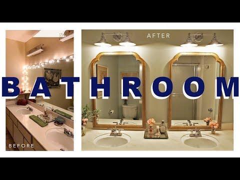 BUDGET BATHROOM MAKEOVER — Before & After