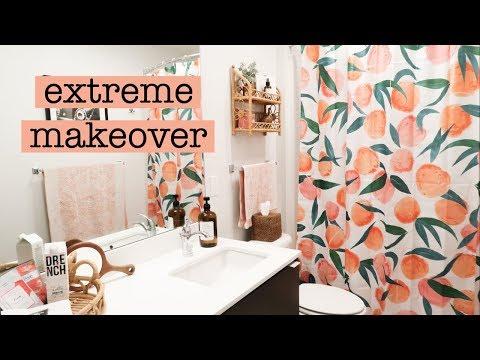 Boho Apartment Bathroom Makeover