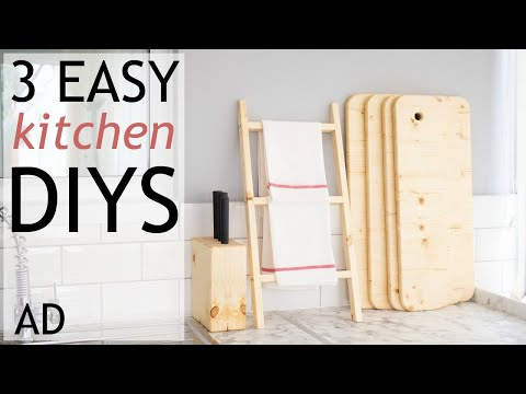 3 Easy DIY Kitchen Woodworking Projects   AD   The Carpenter's Daughter