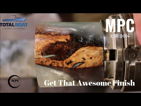 How to Get a Great Finish on Resin and Wood Lathe Projects