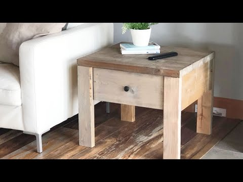 Build a Nightstand or End Table with Drawer – Quick and Easy