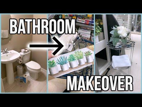 DIY Small Bathroom Makeover | $50 Budget