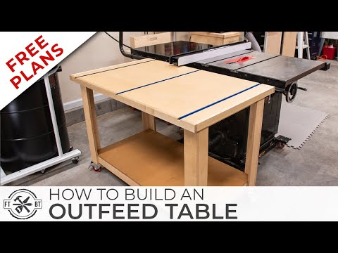 Simple Outfeed Assembly Table with FREE Plans | DIY Woodworking