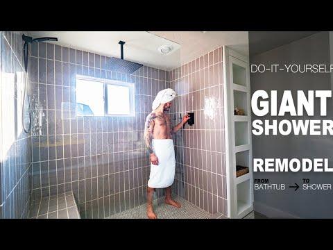 DIY Giant Shower Makeover