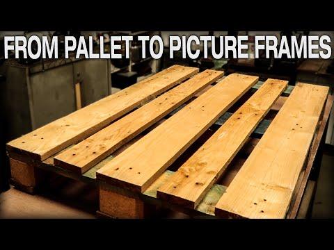DIY Pallet Wood Picture Frame