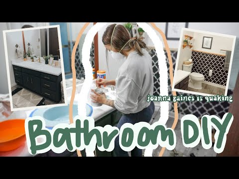 BUDGET BATHROOM MAKEOVER…diy projects