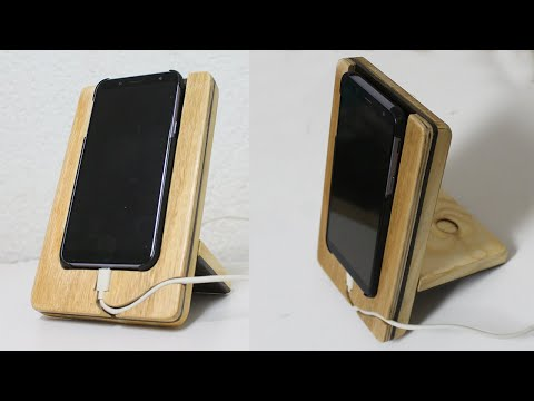 Small Woodworking Projects for gifts – DIY Docking Station