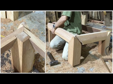 Amazing Techniques& Skills Woodworking Project Luxury Furniture || How To Make Joint For Chair Frame
