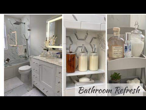 SMALL BATHROOM MAKEOVER ON BUDGET || 2020 BATHROOM DECOR IDEAS