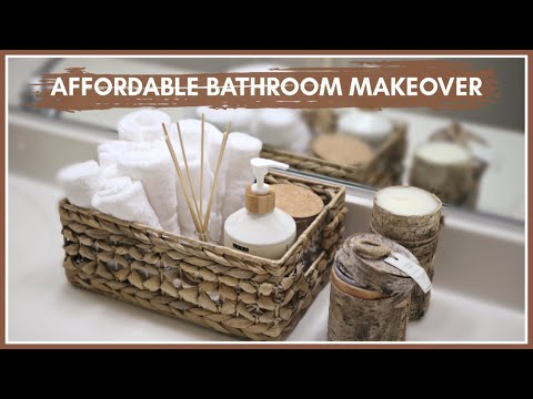 AFFORDABLE SMALL Bathroom MAKEOVER (Budget Friendly) / Preparing for Baby #2
