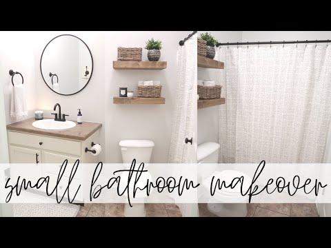 Small Bathroom Makeover | Modern Farmhouse Bathroom Makeover | Decorate With Me