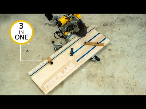 3 in 1 miter saw station (must have WOODWORKING jig) Free Plans