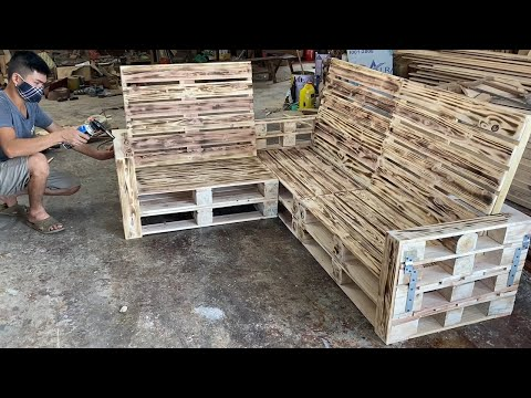 Amazing Design Ideas Smart Woodworking Project Cheap From Pallet – Build A Outdoor Sofa From Pallet