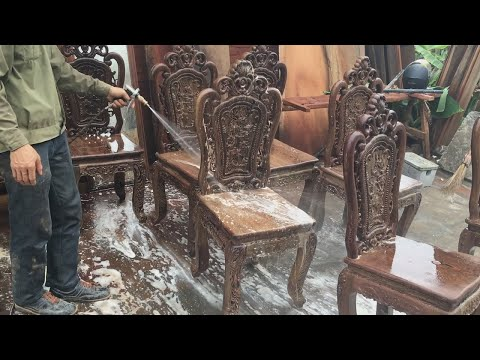Amazing Woodworking Skills Of Carpenter // Woodworking Projects For Chairs Extremely Beautiful!