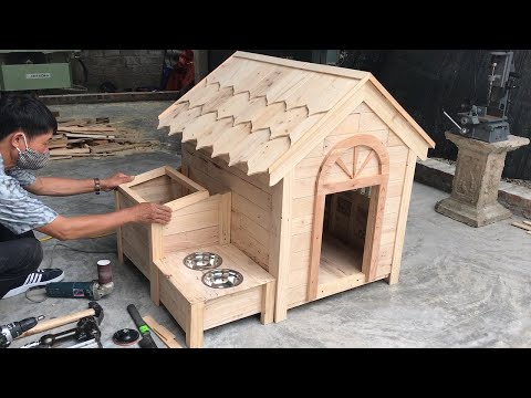 Amazing Woodworking Project Ideas From Old Pallets // Build A Wooden House For Your Dog – DIY!