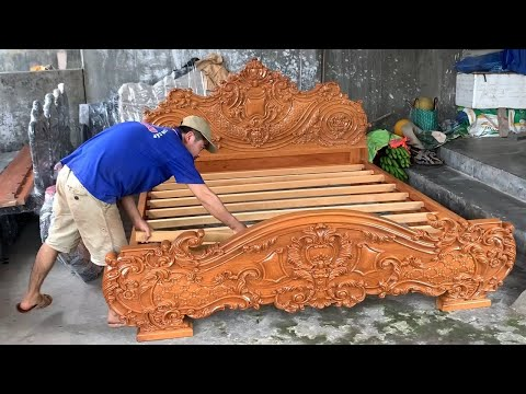 Amazing Woodworking Projects Fast Easy – Build And Assemble A Beautiful Modern Large Wooden Bed