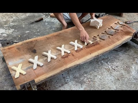 Amazing Technique Carpenter Woodworking – How To Recover Broken Wood And Build Outdoor Caffee Table