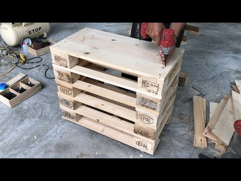 Cool Idea Woodworking Project With Old Pallets // Build Simple Shoe Cabinets Easy – How To, DIY!