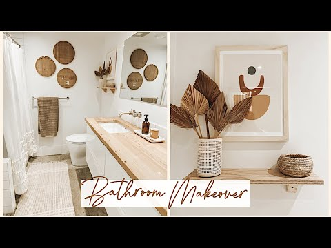 Rental Bathroom Makeover (Urban Outfitters Boho Inspired)