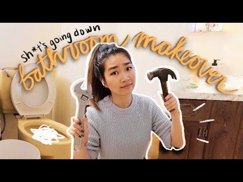 Extreme DIY Bathroom Makeover Renovation (Part 1) | JENerationDIY