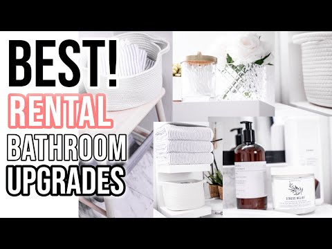 BEST 10 Renter-Friendly LUXE BathroomUpgrades | Stuff Nobody told you!