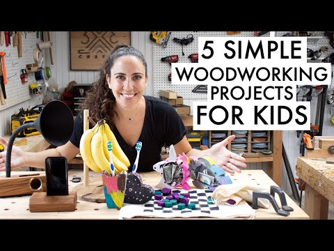 Easy Woodworking Project to Make with Kids // Beginner Woodworking Projects