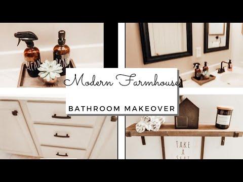 Cozy Small Bathroom Makeover | Modern Farmhouse Bathroom Makeover| Decorate With Me