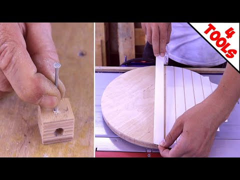 4 Amazing Woodworking Tools DIY Wood Projects Simplest and Easiest Creative Craft You MUST See