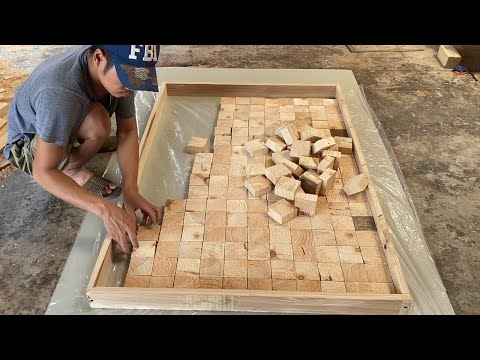 Amazing Best Design Idea Woodworking Projects – How To Building A Large Workbench With Square Blocks