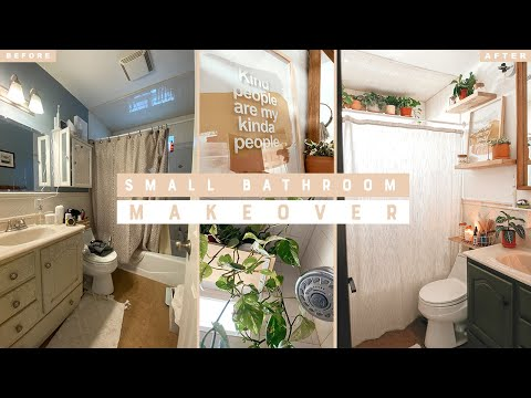 DIY SMALL BATHROOM MAKEOVER ON A BUDGET | No Demo or Reno Needed!