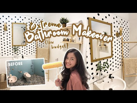 EXTREME BATHROOM MAKEOVER ON A BUDGET | Makeover Kamar Mandi Budget 1 Juta! | Indonesia