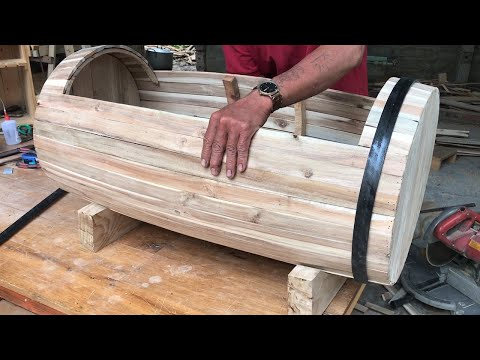 Amazing Weekend Woodworking Project // How to Build Modern Beautiful Tree Box 2020 –  DIY!