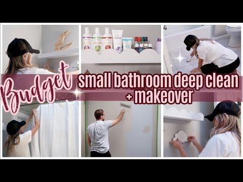 *NEW* BUDGET BATHROOM MAKEOVER AND DEEP CLEAN // TIFFANI BEASTON HOMEMAKING // CLEAN WITH ME // SAHM